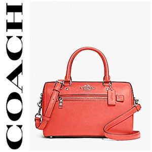 NWT authentic COACH leather satchel coral